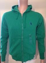 Ralph Lauren Mens Pea Green Zip Up Hoodie Size Extra Small XS - $88.98