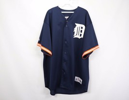 Vintage Majestic Mens XL Detroit Tigers MLB Baseball #4 Higginson Jersey Blue - $56.38