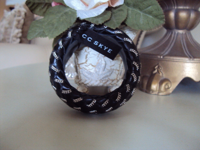 CC SKYE Woven Leather Janey Bangle