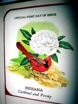Fdc Unaddressed Cachet-INDIANA,Cardinal, Peony Folio - $12.00