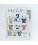 Mccall's Sewing Pattern 8050 Misses Tops 10-12 One Easy Pattern 9 Great ... - $9.89