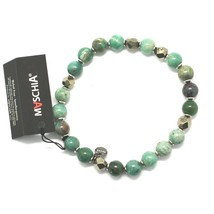 Silver 925 Bracelet with Hematite and Jasper Bbus-5 Made in Italy by Maschia image 1