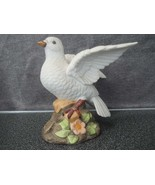 Beautiful Vintage White Porcelain Dove figurine Statue Made in Mexico Ha... - $24.99
