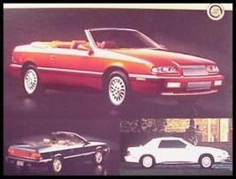 1995 Chrysler Lebaron Convertible Dealer Sales Brochure 95 - $4.83