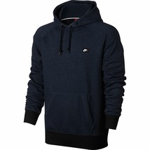 Nike Men's French Terry Shoebox Pullover Hoodie Navy-Black 678564-460 - $44.80