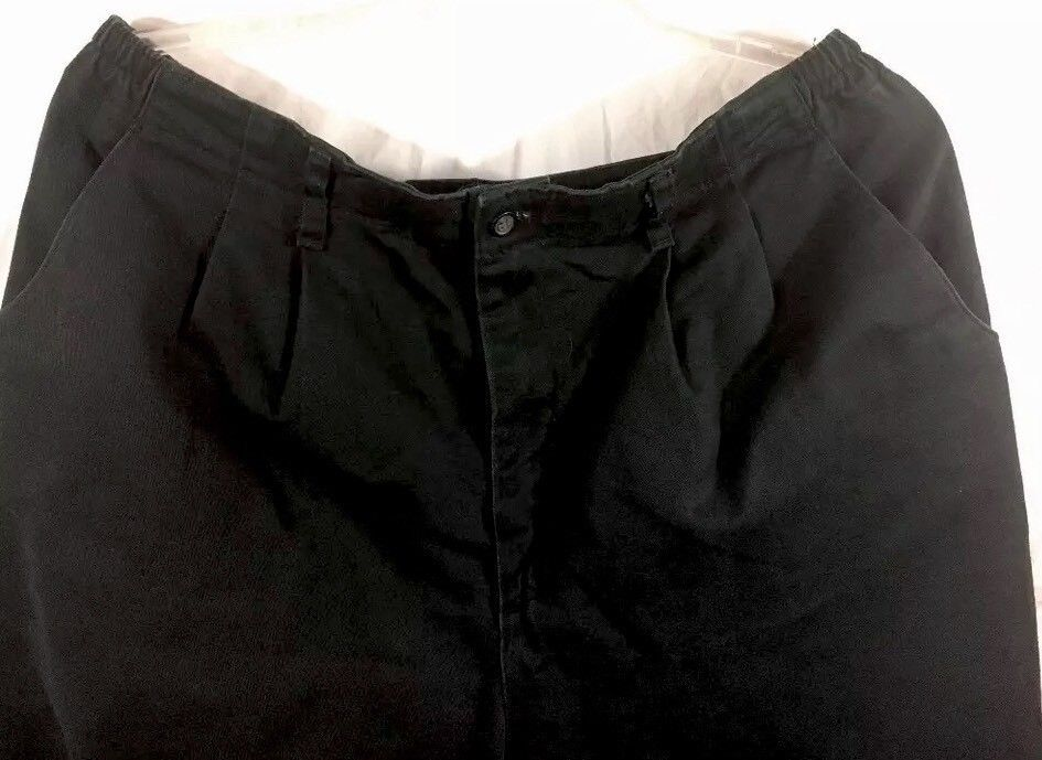 """Lee Womens 20W Black Dress Pants Elastic Sides At The Waist Cotton/Spandex 26""""In"""