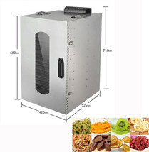 110V 1.6HP 20 Layers Fruit&Vegetable Pet Food Herbs Drying Machine Dehyd... - $648.00