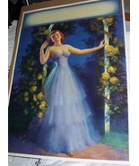 RARE1949 LargePosterLithograph-ART FRAHM-Waiting For You Pin - $135.50