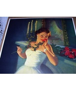 Gorgeous Deco Lady,Beautiful Red Roses-HUFFORD-Love Sends A  - $125.00