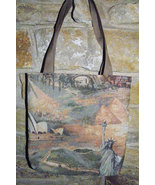Handmade Famous World Land Mark Tapestry Tote #2 - $8.00
