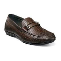 Stacy Adams Shoes Lanzo Moc Toe Bit Slip-On Crocodile print Brown 25057... - €63,83 EUR