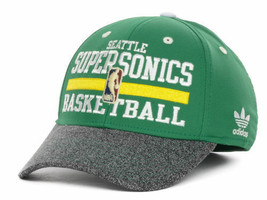 Seattle Supersonics  adidas MZ061 NBA 2 Tone Team Stretch Fit Basketball Cap Hat - $21.95