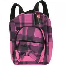 Aka Sport Pink Plaid Pocket Backpack OT057 - $68.35 CAD