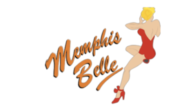 Made In United States Memphis Belle Red with Text Nose Art Decal 6''   - $19.79