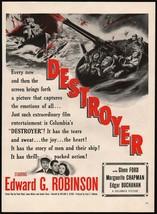 Vintage magazine ad DESTROYER movie from 1943 Edward G Robinson and Glenn Ford - $12.99