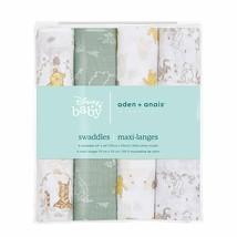 aden + anais Essentials Swaddle Blanket, Muslin Blankets 4-Pack, Winnie ... - $42.05
