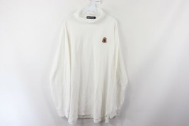 Vtg 90s Polo Golf Ralph Lauren Mens 2XL Spell Out Crest Turtleneck Sweat... - $49.45