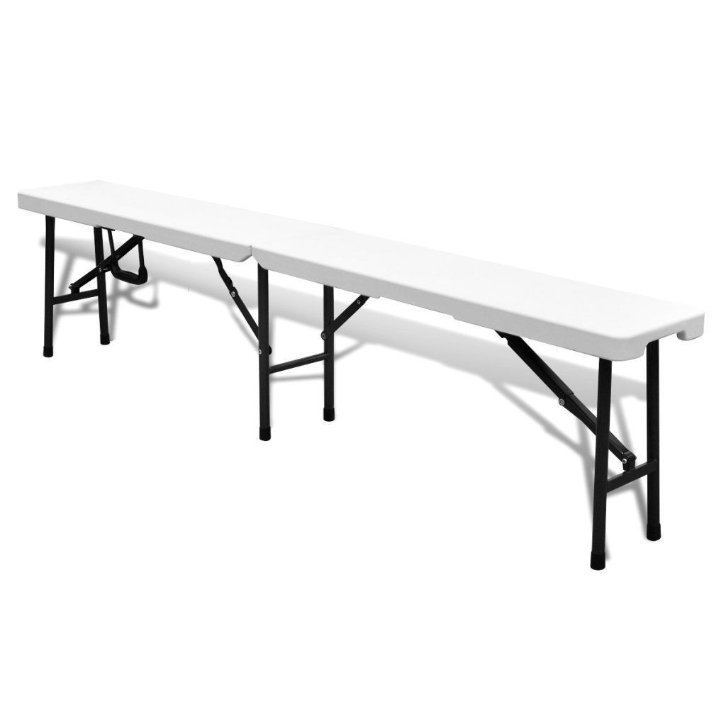 Picnic Garden Dining Set Folding Table Benches Outdoor Patio Durable Plastic image 3