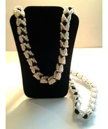 """Womens black and White Pearl Necklace, 32"""", wedding, special occasion - $17.00"""