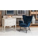 Fabulous Metal & Blue Velvet Diamond Quilt Arm Chair,32''L X 37''H. - $1,480.05