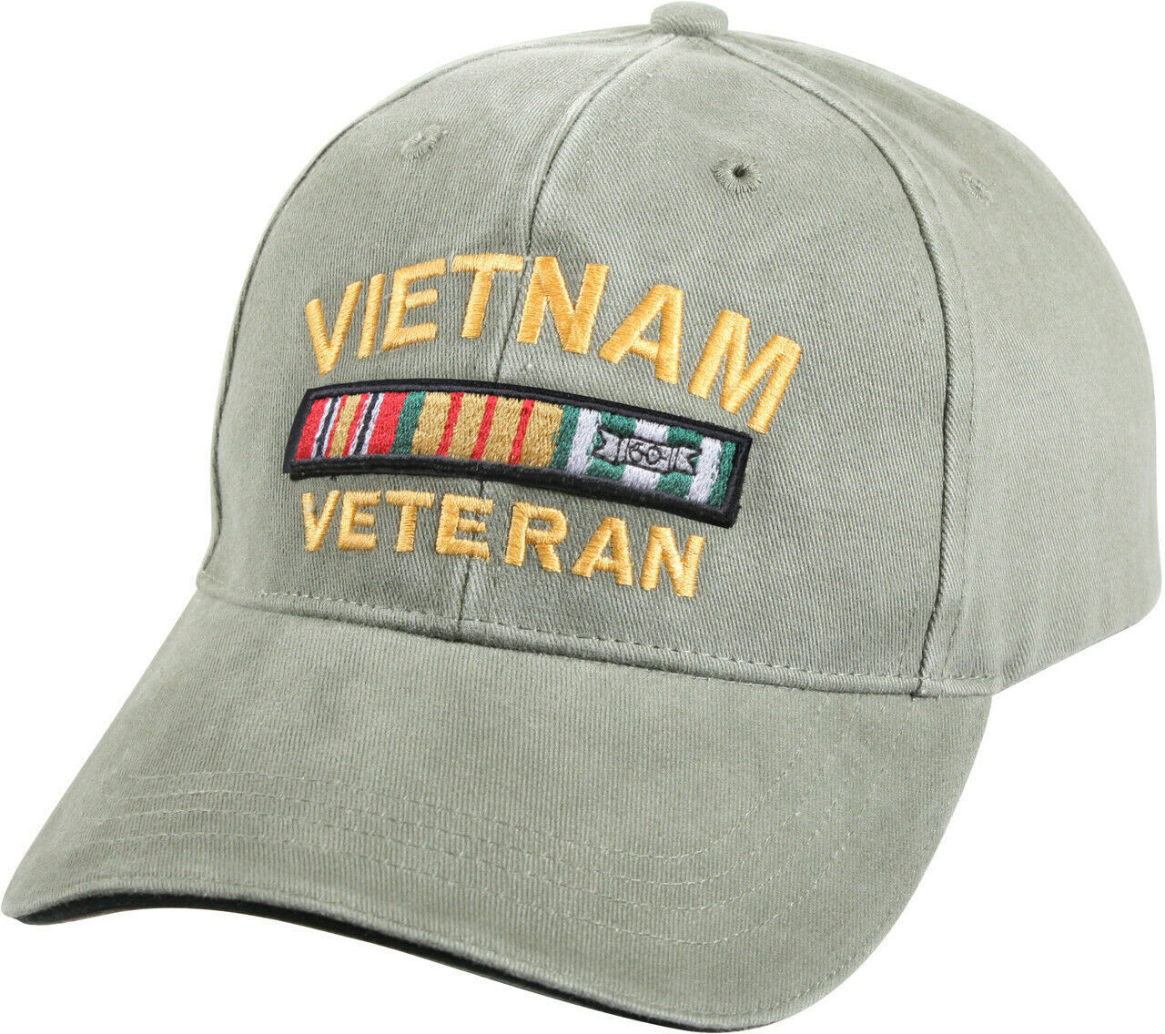 Primary image for Olive Drab Vintage US Military Vietnam Veteran Deluxe Low Profile Adjustable Cap