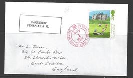 1994 Paquebot Cover British stamp used in Pensacola, Florida (Nov 1) - $5.00