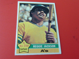 1976  TOPPS   REGGIE  JACKSON   #  500    NEAR  MINT  /  MINT  OR  BETTE... - $24.99