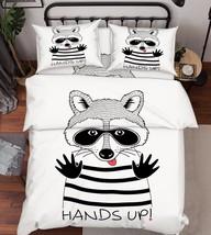3D Fun Squirrel Bed Pillowcases Quilt Duvet Cover Set Single Queen King Size AU - $90.04+