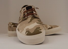 Genuine Polo Ralph Lauren Size 17D Brown Brushed Cotton Fashion Sneaker Faxon - $65.82 CAD