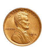1914 P Lincoln Wheat Cent - Red Gem BU / MS RD / UNC - €80,76 EUR