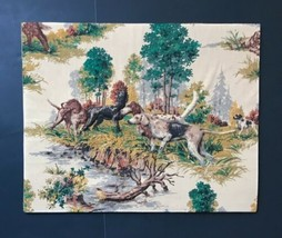 Vtg Trapunto Quilted Hunting Dogs Picture Mounted Nature Puffy Plush Art - $49.49