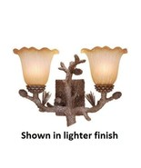 Vaxcel Lighting Dark Brown Rustic Pine Cone Vanity Light Sconce Cabin Lodge - $119.00