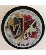 NHL LIMITED EDITION VEGAS GOLDEN KNIGHTS VS ARIZONA COYOTES PUCK 3/28/2018 - $49.49