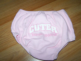 Infant Baby Size 6-9 Months Pink Bloomers Cuter Faster Smarter on Rump C... - $6.50