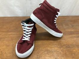 Old Navy Ragazze Bordeaux Camoscio Sintetico Alto Top Sneakers Misura 2 ... - $23.79