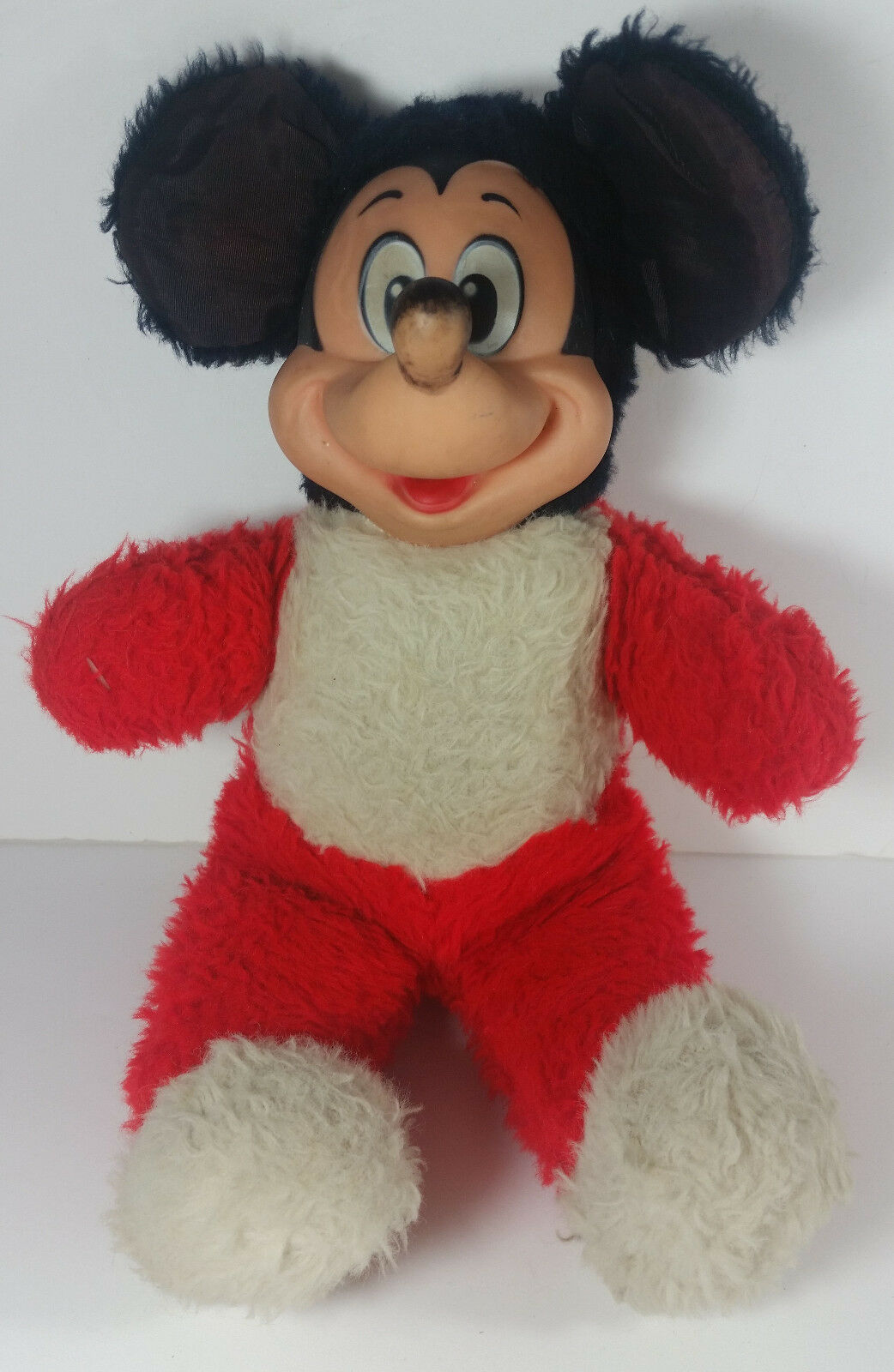 Primary image for Vintage Mickey Mouse Plush 13in Disney Productions Stuffed Animal Rubber Face