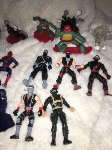 Mixed Super Hero Action Figure Lot Of 36 Marvel Ninjas Turtles Power Ranger WWE image 6