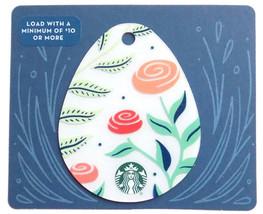 Starbucks New Empty Fillable Easter Egg Shaped Gift Card Roses - $1.99