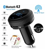 Bluetooth Car FM transmitter wireless radio adapter Charger for Samsung ... - $31.65