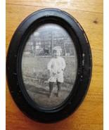 Vintage Antique Original Photo w/ Oval Frame Boy Child 1920s Era Flapper... - $19.79