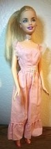 Mattel Blond Barbie Bendable knee Doll in Pink Dress & shoes - $12.37