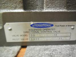 INTERNATIONAL DG08-2C-E-10 DIRECTIONAL CONTROL VALVE  DG03-6C-115VAC71DN image 2