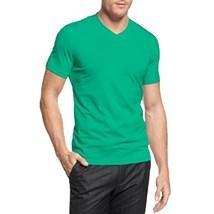 Alfani Men's Slim Fitted V-Neck T-Shirt Sea Wave X-Large - $17.99