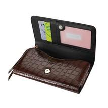 Alligator Brown Wallet Credit Card Case fits LG Tribute Dynasty (Sprint) - $19.79