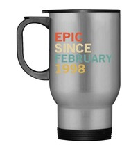 20th Birthday Gift Tee Epic Since February 1998 Travel Mug - $21.99