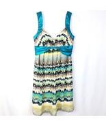 Max & Cleo Dress Womens Size 2 Empire Waist V-Neck Sleeveless Satin Trim... - $29.68