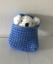 Handmade Crochet Pocket Mouse doll 6cm H - $12.80