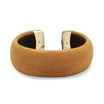 PalmBeach Jewelry Rust Stingray Cuff Bracelet in Yellow Gold Tone - $24.49