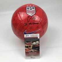 Autographed/Signed CARLI LLOYD 2x WC Champs Red Team USA Soccer Ball JSA... - $134.99