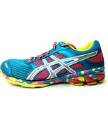 Asics Gel Frantic 7 Womens Size 8 Pink Blue Running Shoes Model T3A6N Ra... - $36.62